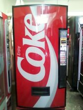 Coke Soda Vending Machine Dixie Narco Bubble Front 440-8 With Bill Acceptor