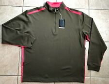 Nike Golf Half-Zip Nike Sphere Pro Pullover Coverup-Green/Pink-Large- Nwt