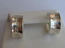Authentic Tiffany & Co. Silver 1837 Wide Huggy Huggie Hoop Earrings