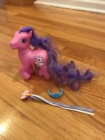 2005 Hasbro My Little Pony SILVER LINING G3 MLP Super Long Tinsel Hair Jewel Sun