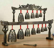Chinese Tibet Feng Shui Dragon Poem Brass Glockenspiel Chime-bells Serial Bells