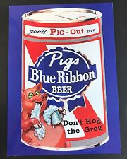 LOST WACKY PACKAGES 2ND SERIES ALTERNATE PUZZLE SET #3 PIG'S BLUE Uncut Sheet