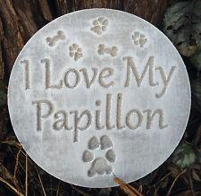 Papillon dog mold garden ornament stepping stone