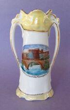 Victorian Era German Spill Vase Advertising Pillsbury Flour Mills Lustre Ware