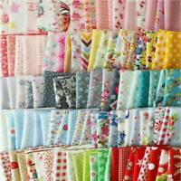 100PC DIY Square Quilting Floral Cotton Patchwork Cloth For Craft Sewing 10x10cm