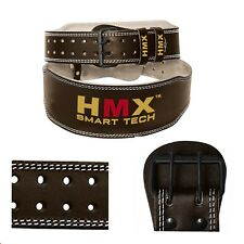 "HMX BACK SUPPORT WEIGHT LIFTING FIT BODYBUILDING GYM STRONGMAN LEATHER BELT 6"" S"