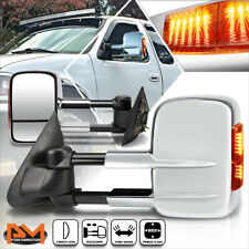For 97-04 Ford F150/97-99 F250 Power+Heated Towing Mirror w/LED Signal Lamp Pair