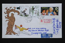China PRC JF2 Stamped Envelope - Registered with Jilin-Changchun cds 1983.3.22