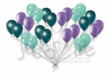 24 pc Lavender, Mint Green & Teal Latex Balloons Party Decoration Birthday Baby