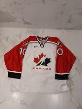 IIHF CANADA NIKE GAME WORN USED WHITE JERSEY #10 ZIGOMANIS