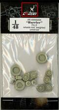 Armory Models 1/48 HAWKER HARRIER FA.2 WEIGHTED WHEELS SET Resin Set