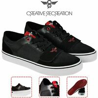 Creative Recreation Mens CR040L983 Cesario Lo XVI Black Red Lifestyle Casual
