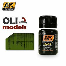 Weathering DARK STREAKING GRIME for Dark Green Enamel 35ml - AK Interactive 024