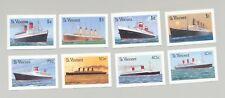 St Vincent #1173-1180 Cruise Ships 8v Imperf Proofs