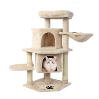 36''Cat Tree Multi-Level Cat Tower Relaxing Activity Tree with Sisal Posts