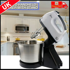 2L Electric Hand Mixer Balloon Whisk Beater Food Held Powerful Set For 7Speed UK