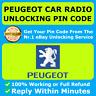 PEUGEOT RADIO PIN CODE 1007 104 106 107 108 2008 204 205 206 207 208 3008 308