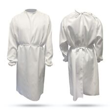 Reusable Washable Medical Gown Labcoat Polyester Easy To Clean Universal Size ⚕�
