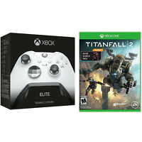 Microsoft Xbox One Elite Platinum White Wireless Controller & Titanfall 2 Bundle