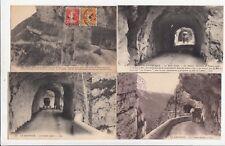 Lot 4 cartes postales anciennes DRÔME route des grands goulets 20