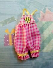 Kelly Small Doll Clothes *New Krissy Layette Pink White Checkered Bib Jumpsuit*