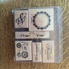 Stampin' Up! Together Forever Rubber Stamp Set Retired Set 6 Wood Mount Weddings