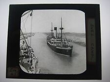 Vintage Glass Negative Suez Canal
