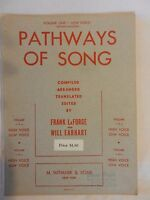 Pathways of Song for Piano & Low Voice LaForge & Earhart 1934 Sheet Music