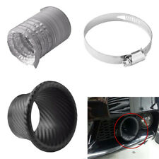 Universal Car SUV Front Bumper Turbo Air Intake Pipe Kit ABS Carbon Fiber Color