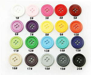 100Pcs 4-Holes Round Resin Sewing Clothes Buttons Diy Craft 9mm 10mm Sell Off