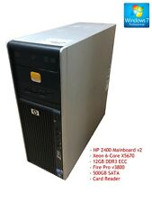 HP Z400 Workstation | Xeon 6-Core X5670 12GB 500GB FirePro v3800 Card Reader