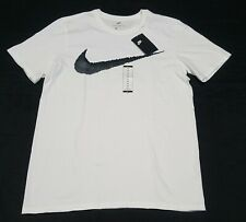77452fb8 Nike Men Regular Fit Hangtag Swoosh White Black Tee T-shirt Medium NWD 3027