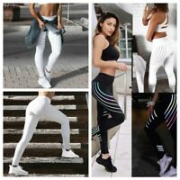 Lady Sport Pants High Waist Yoga Fitness Leggings Running Gym Stretch Trousers