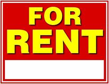 "For Rent Sign, 11""x8.5"", Waterproof, Write On,  Indoor/Outdoor, 4 per Pack"