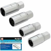 Bluespot 4pc Stud Extractor Remover Socket Set 1/2'' Drive Removing Broken Studs