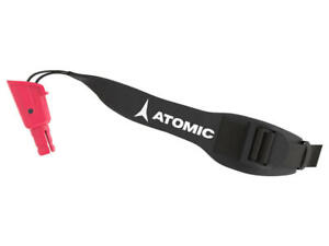 ATOMIC SPARE ADULT AMT SQS SKI POLE SINGLE STRAP & PLUG AZJ00103 BLACK LEFT
