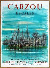 CARZOU * ESCALES * 1958 * MOURLOT Affiche Originale lithographique