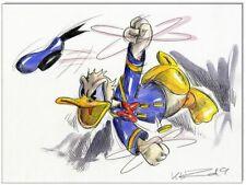 Grantinsch Général: Original PLUME ET AQUARELLE: Donald Duck en Rage IV/24x32 cm