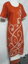 beautiful full embroidery  silk cotton    salwar kameez  size 3XL 48