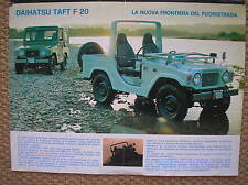 DAIHATSU TAFT F 20 FUORISTRADA  SALES BROCHURE PROSPEKT FEUILLET ITALIANO