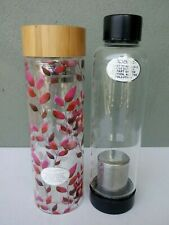APANA - 2 DIFFERENT DETOX TEA GLASS WATER BOTTLES