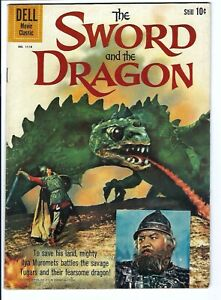 Four Color #1118 The Sword And The Dragon F-VF Dell Golden Age Photo Cover