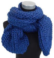 écharpe pour femmes bleu par Ella Jonte maille épaisse EPAIS d'Hiver Automne