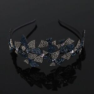 Double Flower Crystal Headbands , Female Elegant Hairband fashion accessories