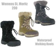 Botas de mujer de nieve planos de piel