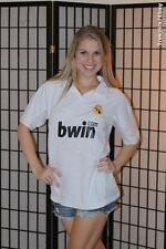 Real Madrid - Spanish soccer jersey- bwin - White - Mens Small*