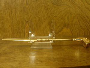 """LETTER OPENER #G219G Golf Club gold look, NEW from Retail Store 9"""""""