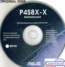ASUS GENUINE VINTAGE ORIGINAL DISK FOR P4S8X-X  Motherboard Drivers Disk M318
