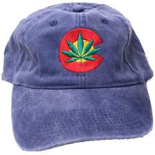 Colorado Flag Leaf Baseball Cap Hats Cotton Blend Weed MJ