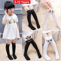 Toddler Girls Long Socks Kids Child Cute Cartoon Knee High Cotton Stocking Soft